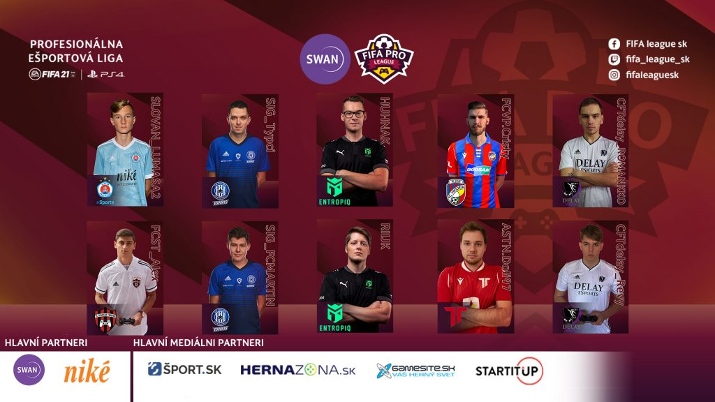 Predstavenie hráčov FIFA PRO League 2. sezóna